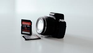 Digitalkamera mit Speicherkarte