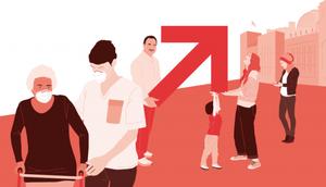 Abb. zur Veranstaltung, Zeichnung von verschiedenen Personen aller Altersgruppen