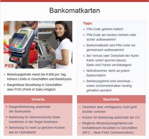 Bankomatkarten, © bmasgk/fridrich/oegwm