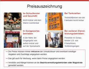 Preisauszeichnung, © sozialministerium/fridrich/oegwm