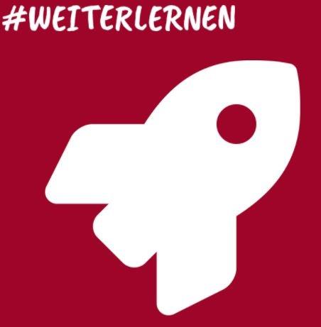 Logo #weiterlernen, Schematische Abbildung einer Rakete, © Bildungsnetzwerk talentify.me