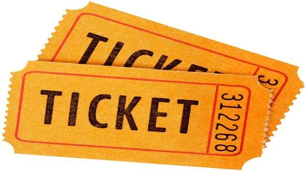 2 orangefarbenen Tickets, © news.schoolsdo.org/wp-content/uploads/2016/03/raffle_tickets