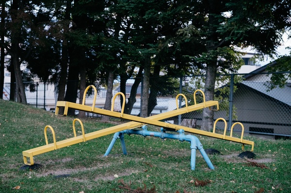 Wippe auf einem Spielplatz, © Photo by Markus Winkler on Unsplash