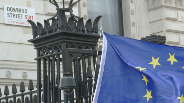 EU-Flagge vor der Downing Street Nr. 10, © Call me Fred on Unsplash