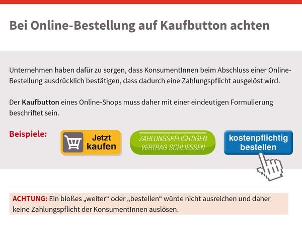Kaufbutton für Onlinebestellungen, © sozialministerium/shw
