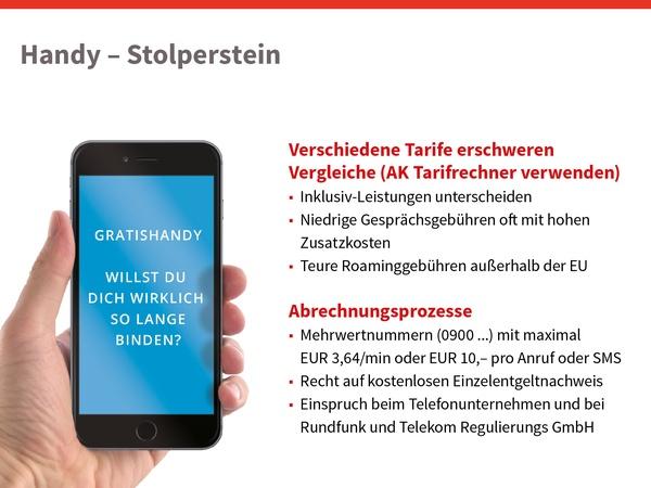Handy Stolpersteine, © sozialministerium/shw