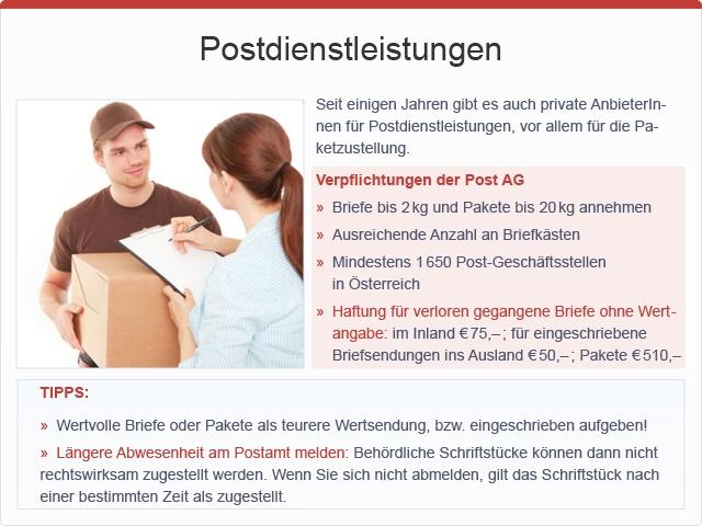 Postdienstleistungen, © sozialministerium/fridrich/oegwm