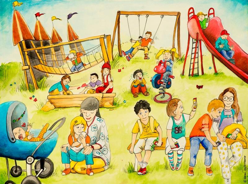 Kinder am Spielplatz, © Raoul Krischanitz