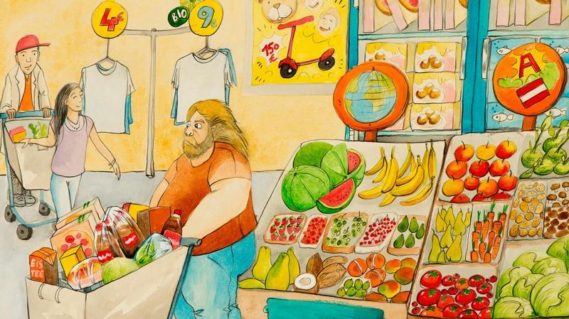 Familie im Supermarkt, © Raoul Krischanitz