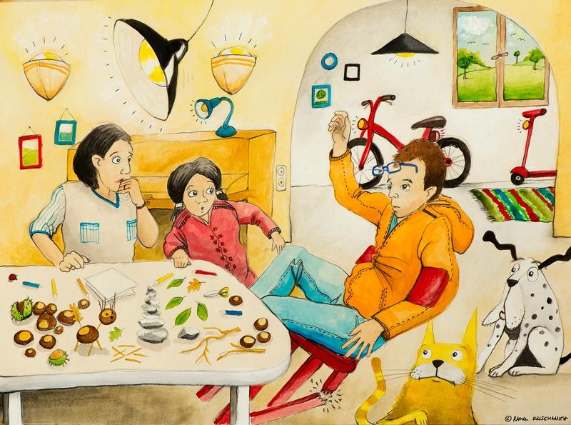 Familie sitzen beim Essen, © Raoul Krischanitz