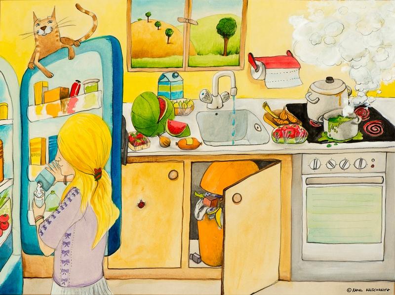Mädchen in der Küche, © Raoul Krischanitz