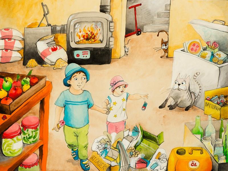 2 Kinder im Keller, © Raoul Krischanitz