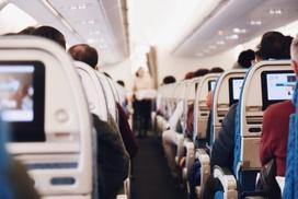 Innenausstattung eines Flugzeuges