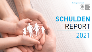 Cover Schuldenreport 2021 der ASB Schuldenberatungen GmbH