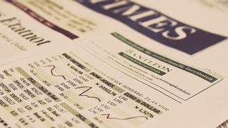 Aktienkurs in der New York Times