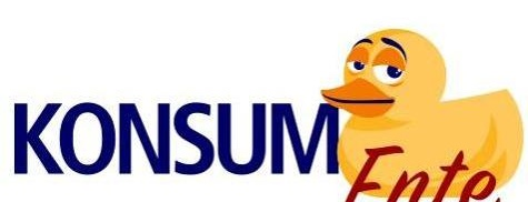 Grafik einer Ente, Logo der KonsumEnte